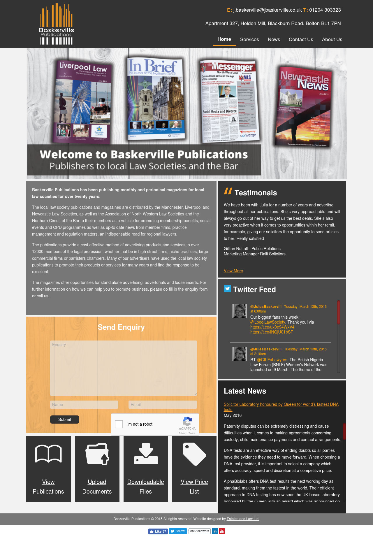 Baskerville Publications Website