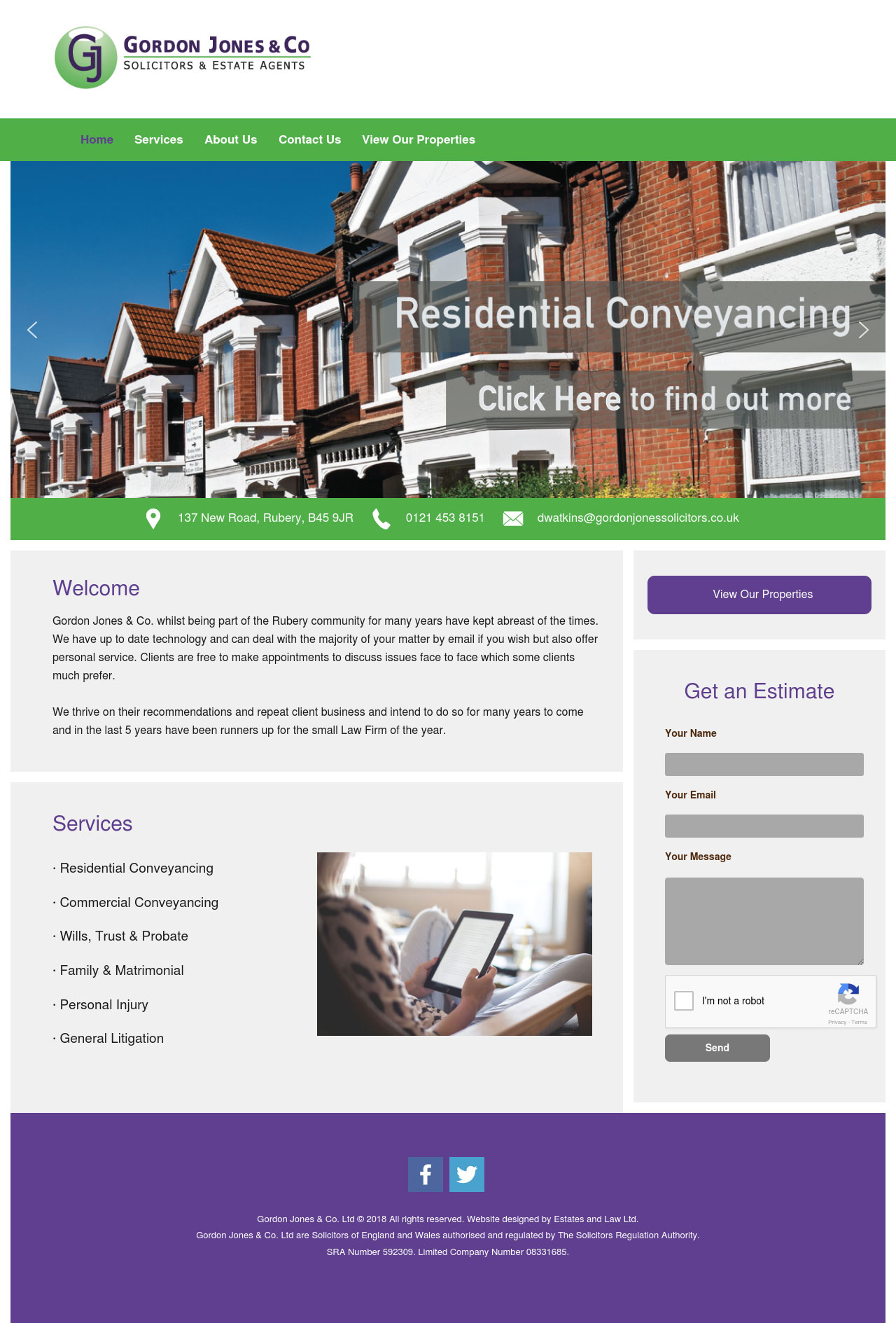 Gordon Jones Solicitors Website