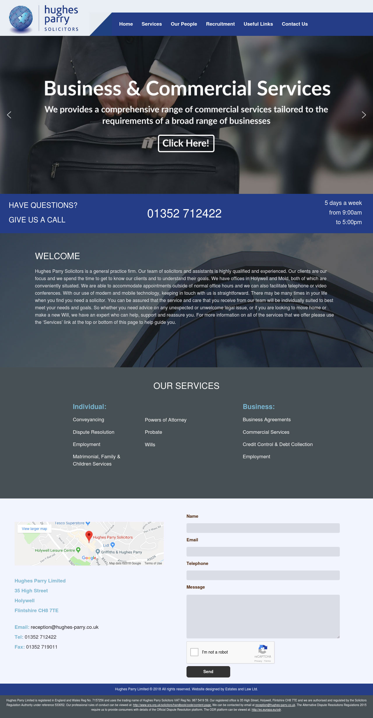 Hughes Parry Solicitors Website