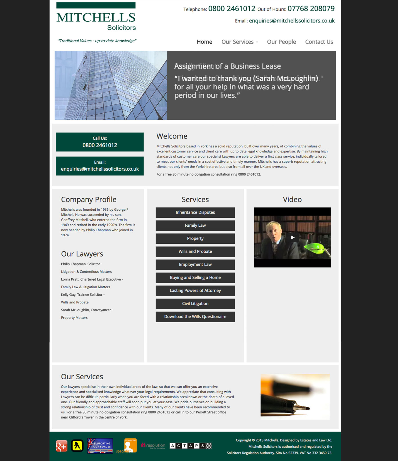 Mitchells Solicitors Website
